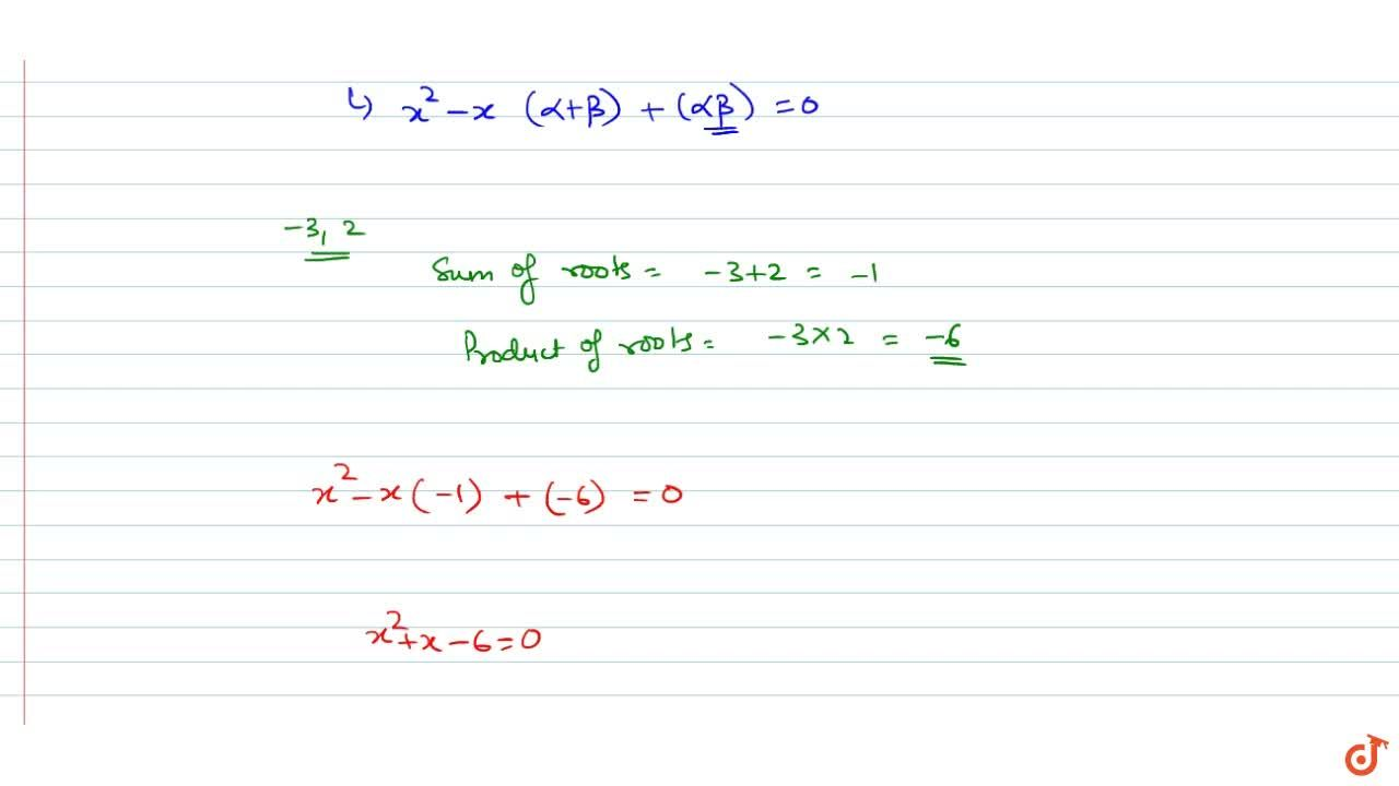 Solution for form a quadratic polynomial whose zeroes are -3 an