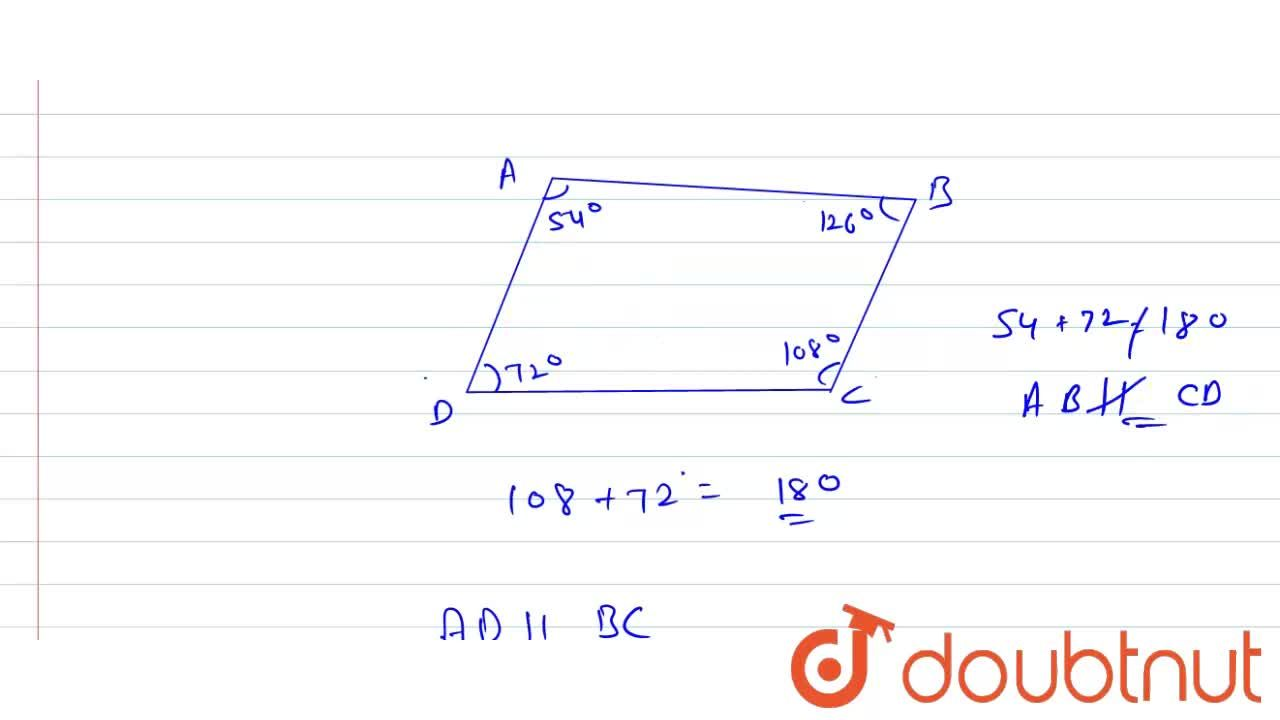 Solution for If angles A, B, C and D of the quadrilateral ABCD,