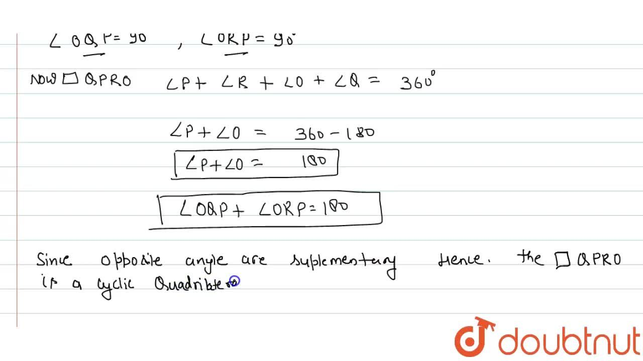 Solution for Two tangents PQ and PR are drawn from an external