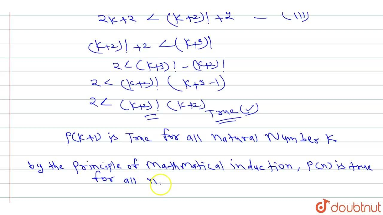 Solution for prove that 2nlt(n+2)! for all natural numbers n.