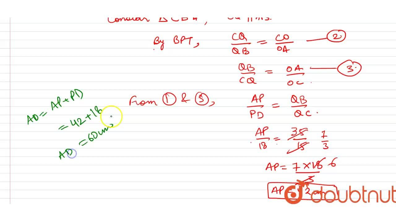 Solution for ABCD is a trapezium in which ABabs()DC and P,Q a