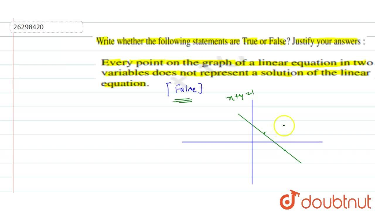 Solution for Every point on the graph of a linear equation in t
