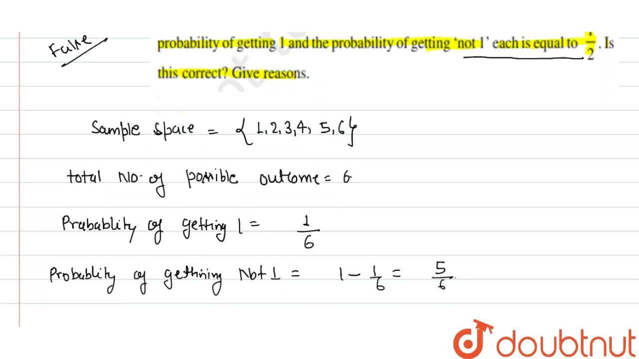Solution for A student says that if you throw a die, it will sh