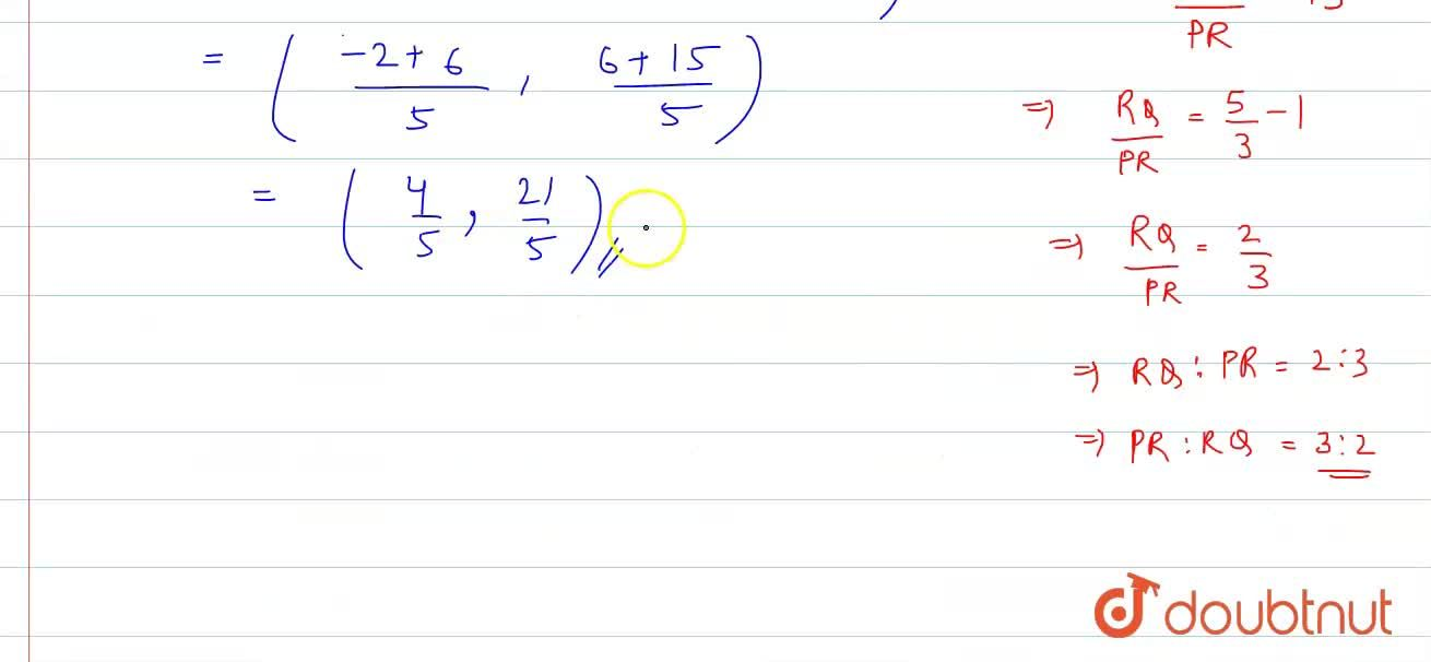 Solution for Find the coordinates of the point R on the line se