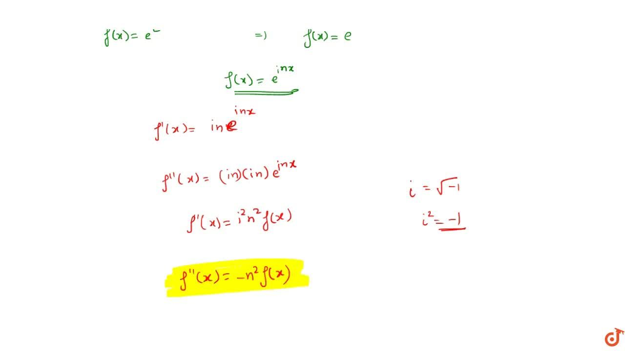 """If f(x)=(cosx+isinx)(cos3x+isin3x)...(cos(2n-1)x+isin(2n-1)x) then f""""(x) is"""