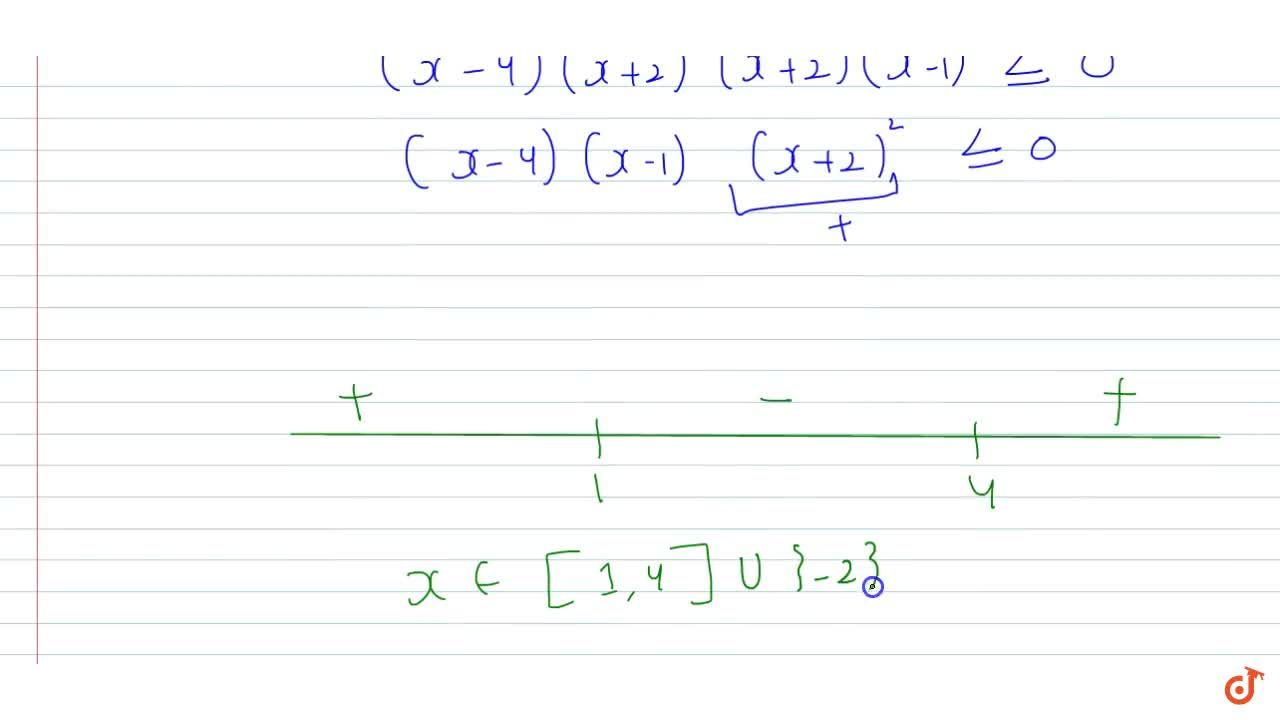If  |x^2-2x -8|+ |x^2 + x-2|= 3 |x +2|, then the set of all real values of x is