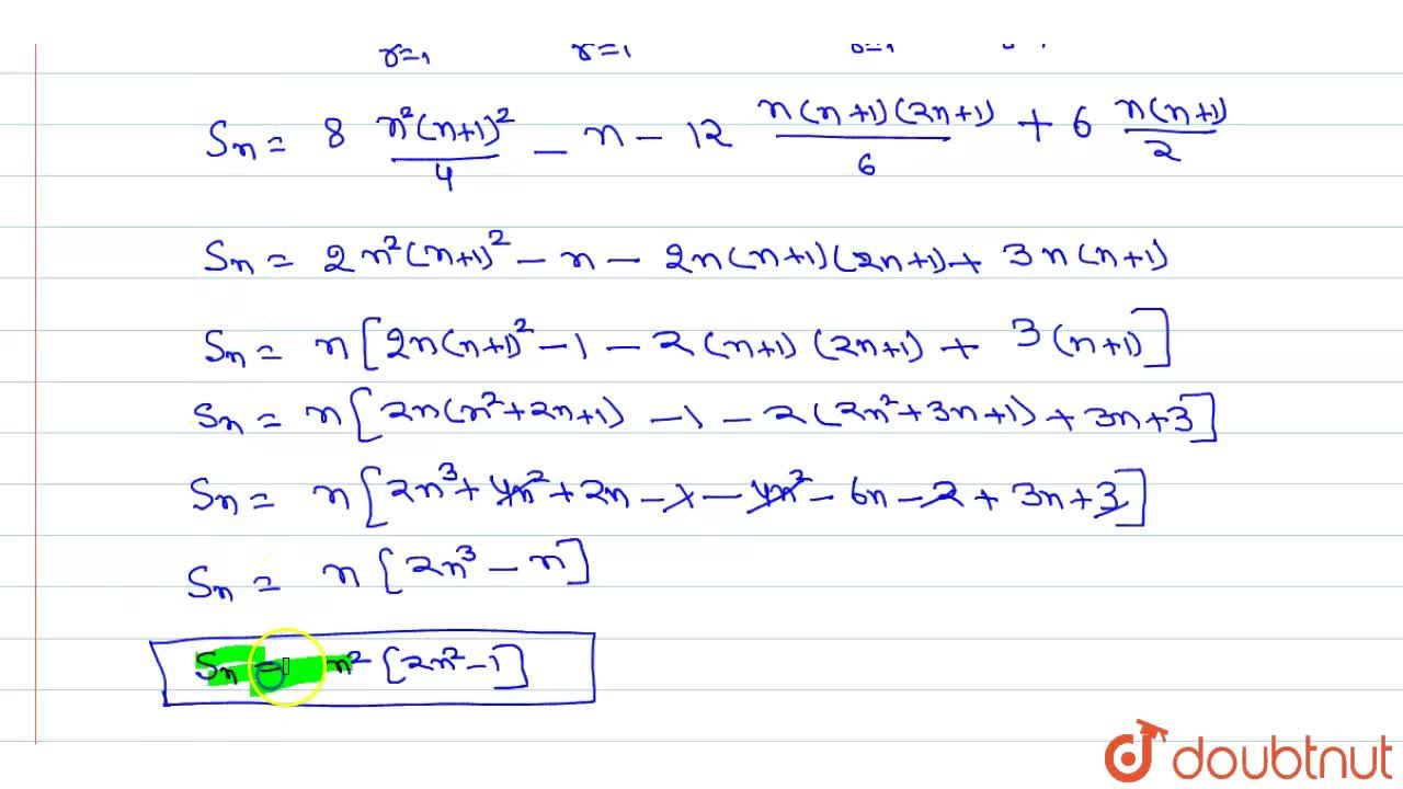 Solution for Sum of n terms of the following series1^3+3^3+5^3
