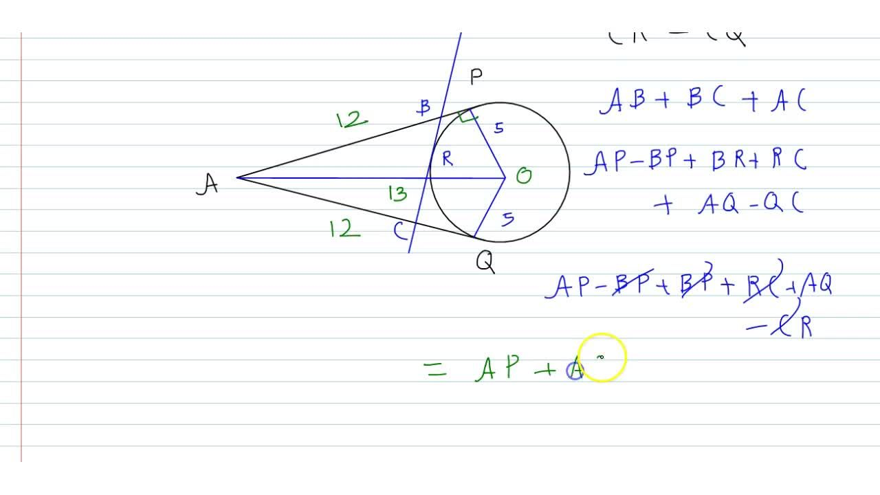 Solution for A is a point at a distance 13 cm from the centre O