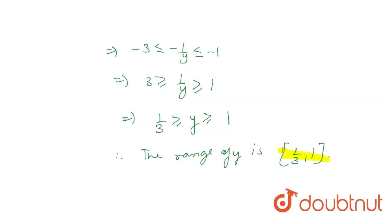Let f:R to R  be the function defined by  f(x) = (1),(2-cos x), AA x in R. Then, find the range fo f.