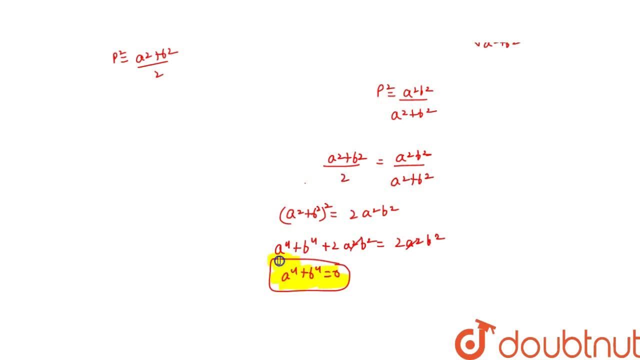 Solution for If p is the length of perpendicular from the origi
