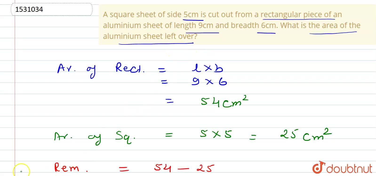 Solution for Give three examples of shapes with no line of symm