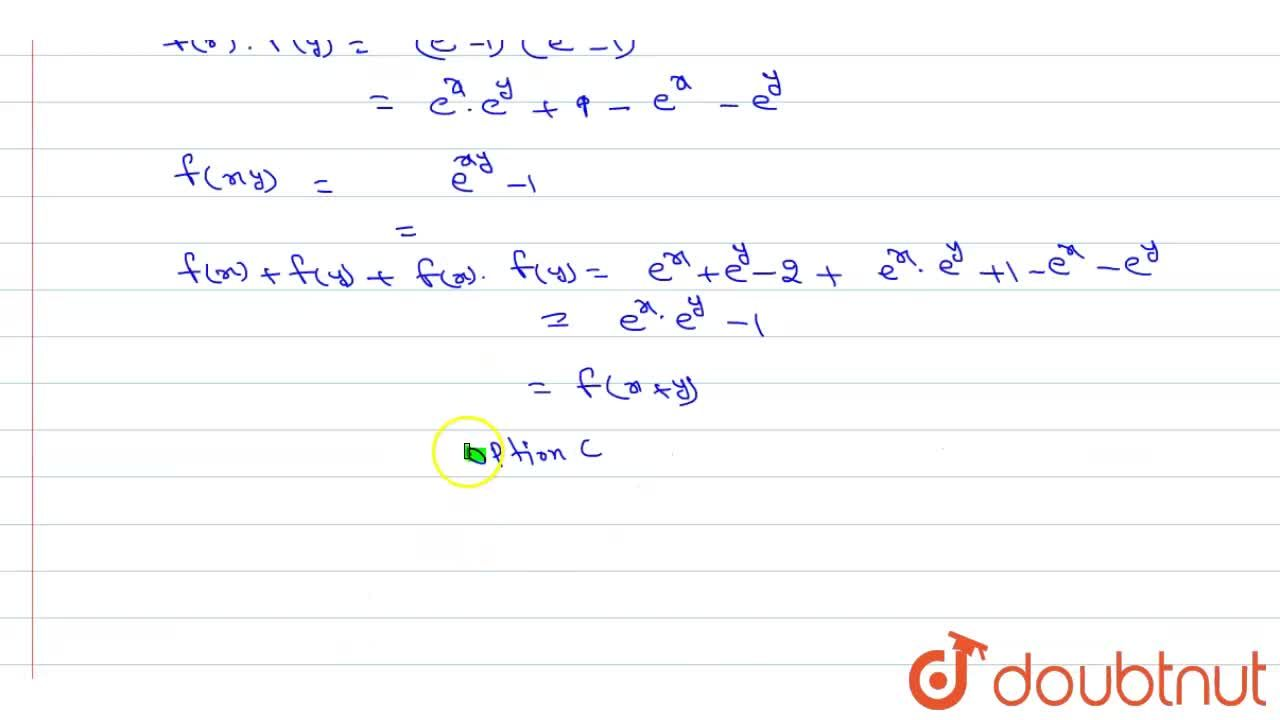 Solution for A continuous function f: R rarrR satisfies the e