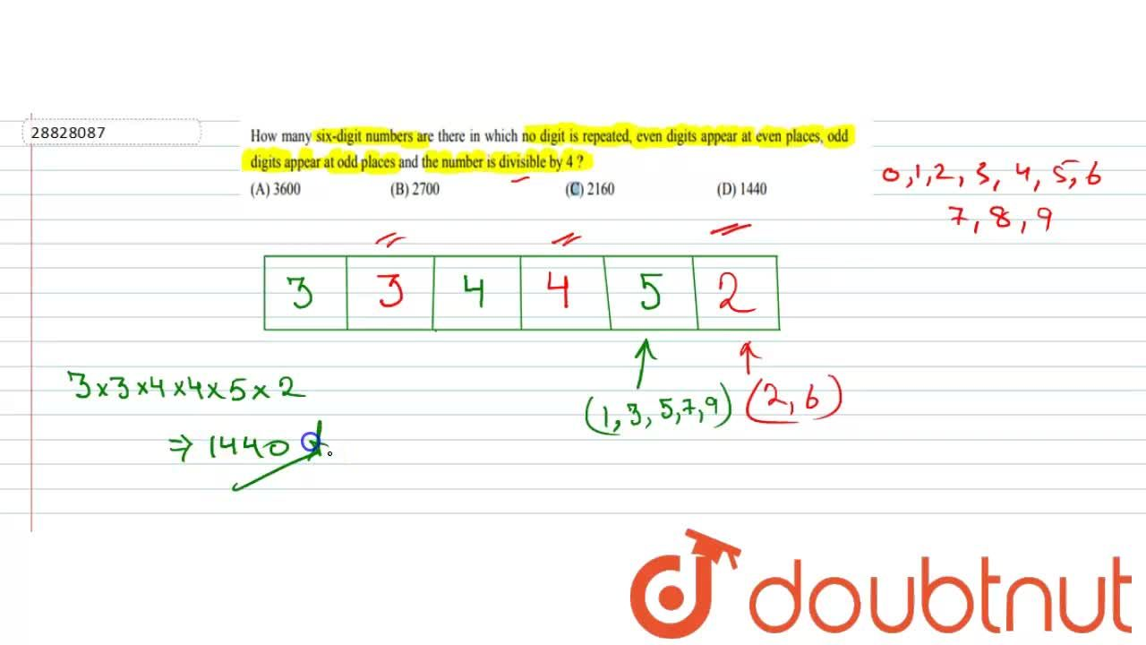Solution for How many   six-digit numbers are there in which no