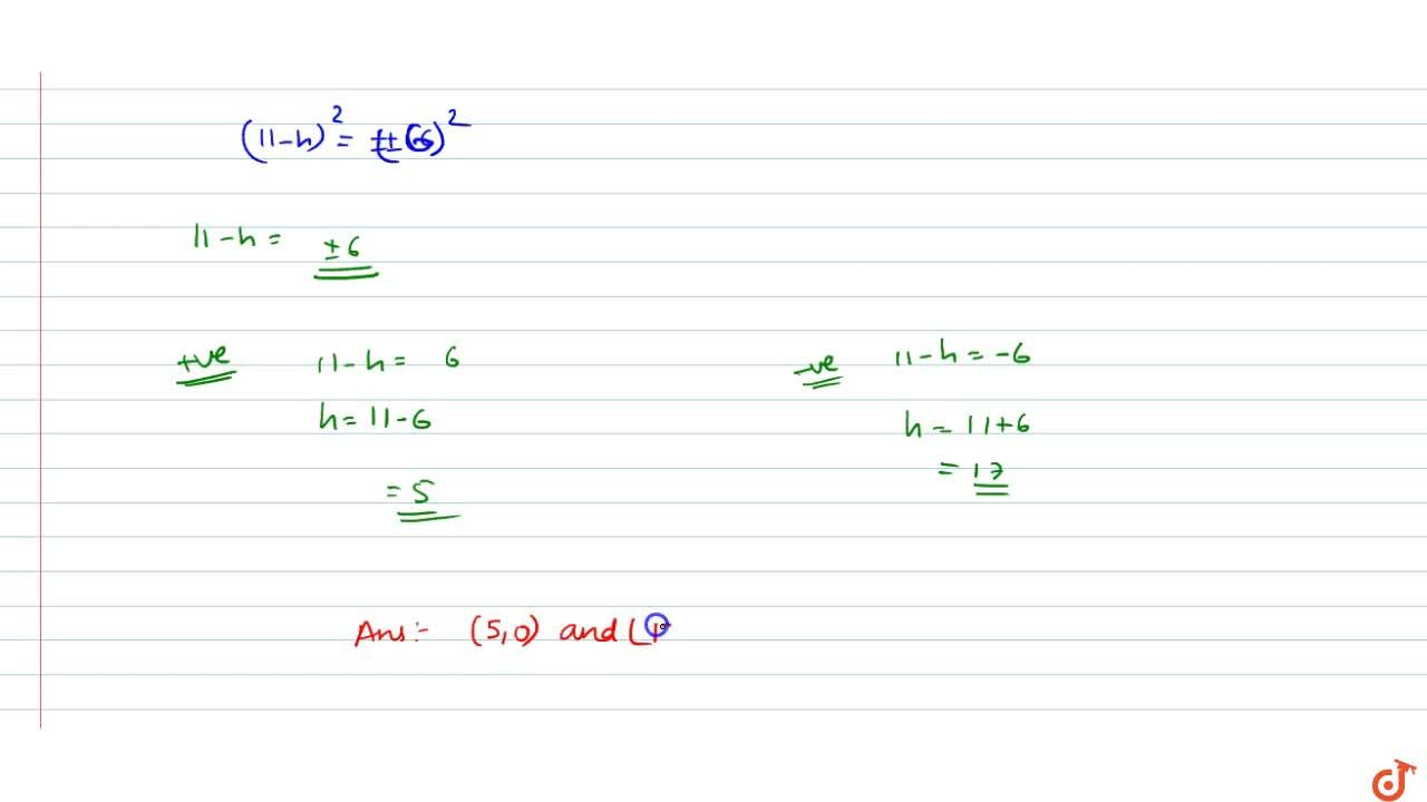 Solution for  Find points on the x-axis, each of which is at a