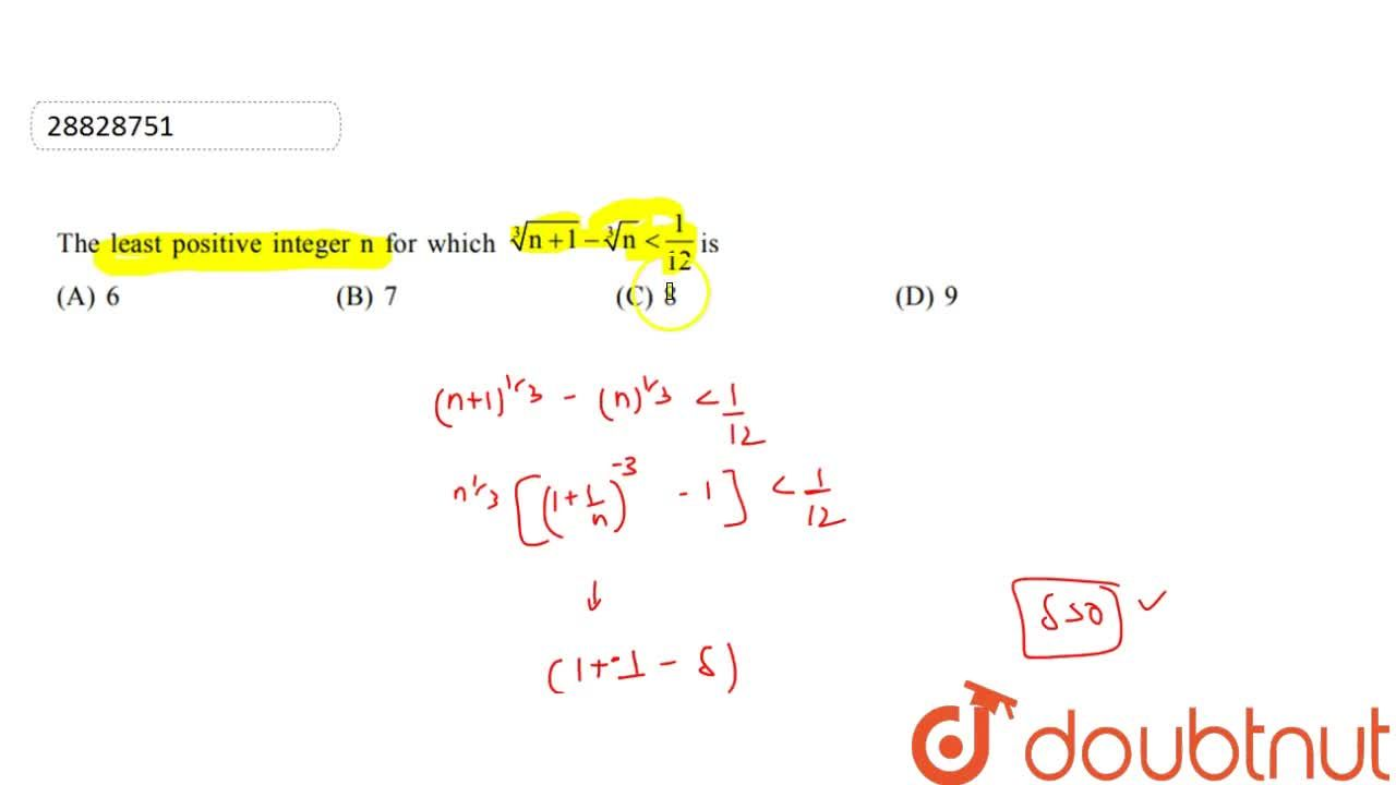 Solution for  the  least  postitive  interger  n from  which