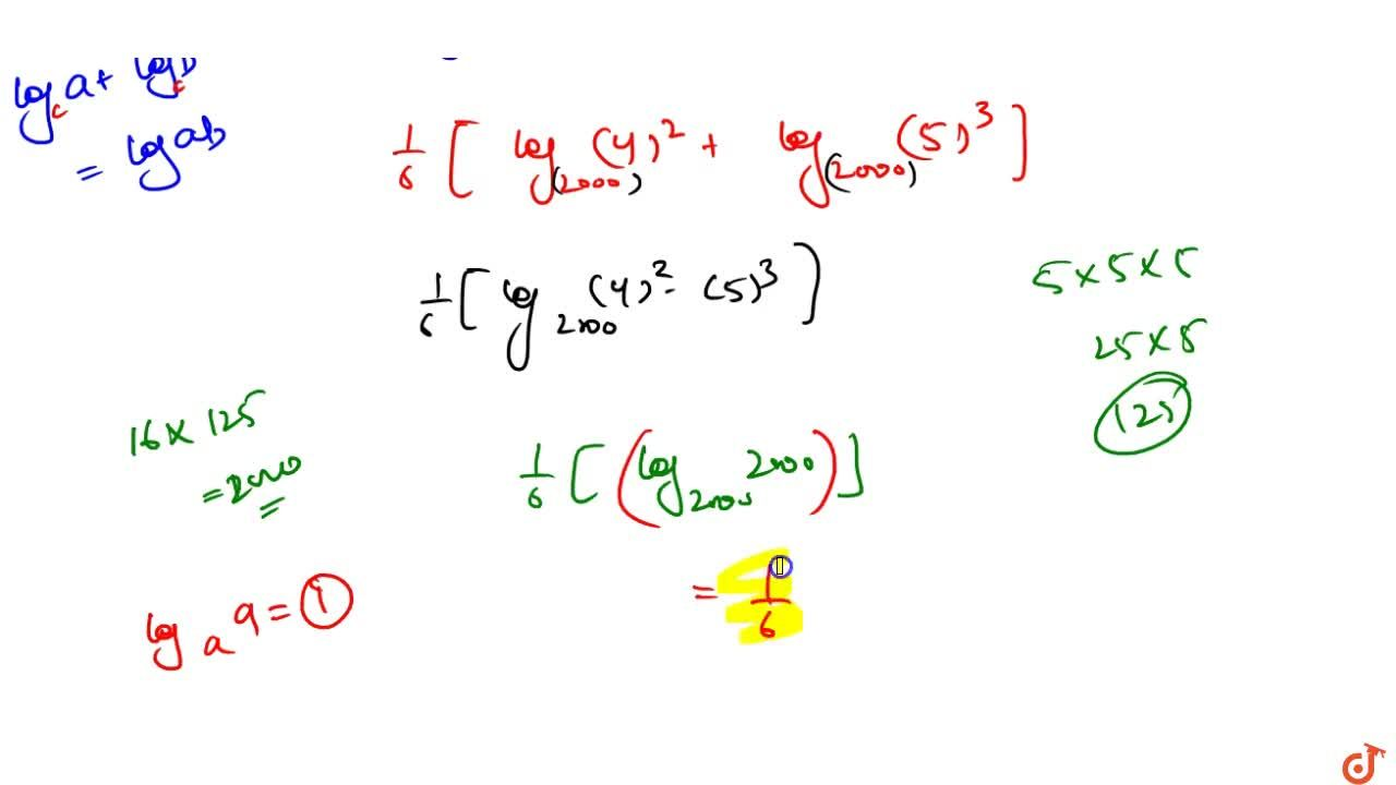 Value of [2,((log)_4(2000)^6)+3,((log)_5(2000)^6)] is 4^(1,3). 5^(1,,2) b. 1,6 c. 3 3 d. none of these