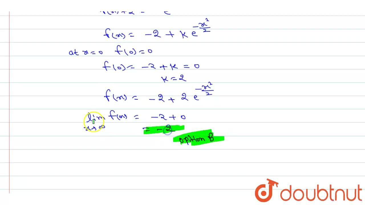 "Let f : R to R be a continuous function satisfying <br> f(x)+underset(0)overset(x)(f)""tf""(t)""dt""+x^(2)=0 <br> for all ""x""inR. Then-"