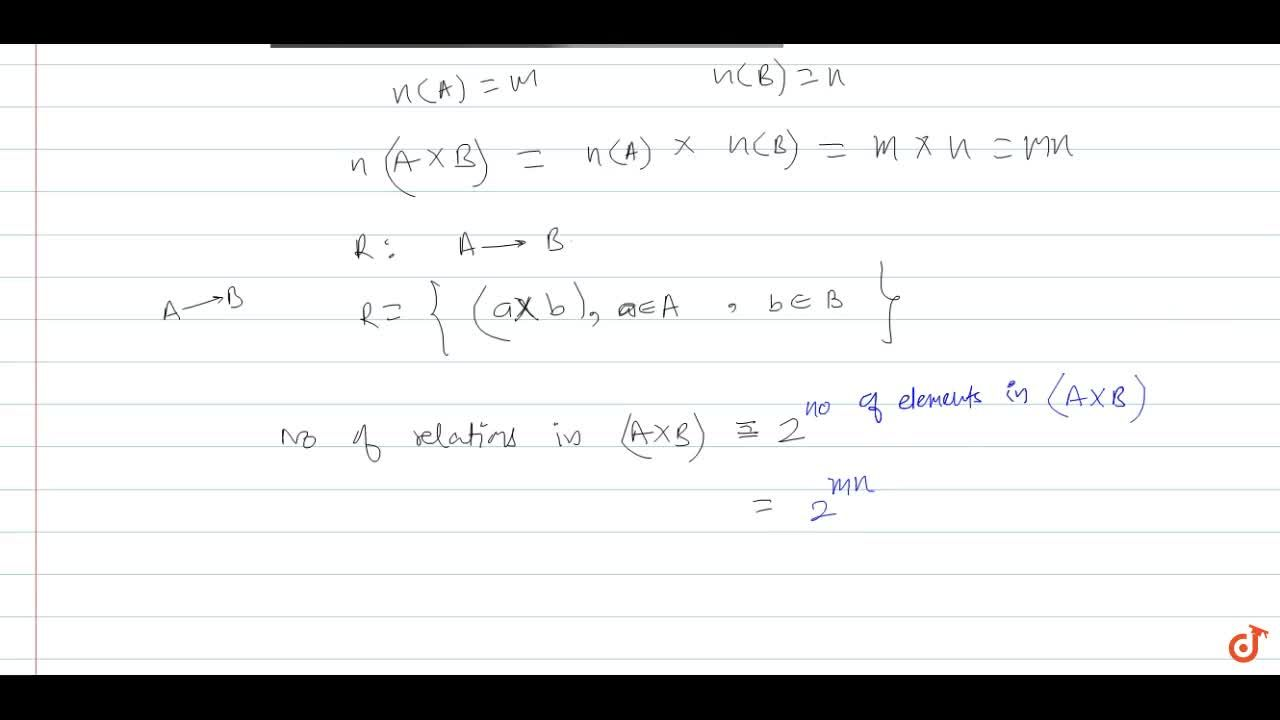 Solution for If R is a relation from a finite set A having m el