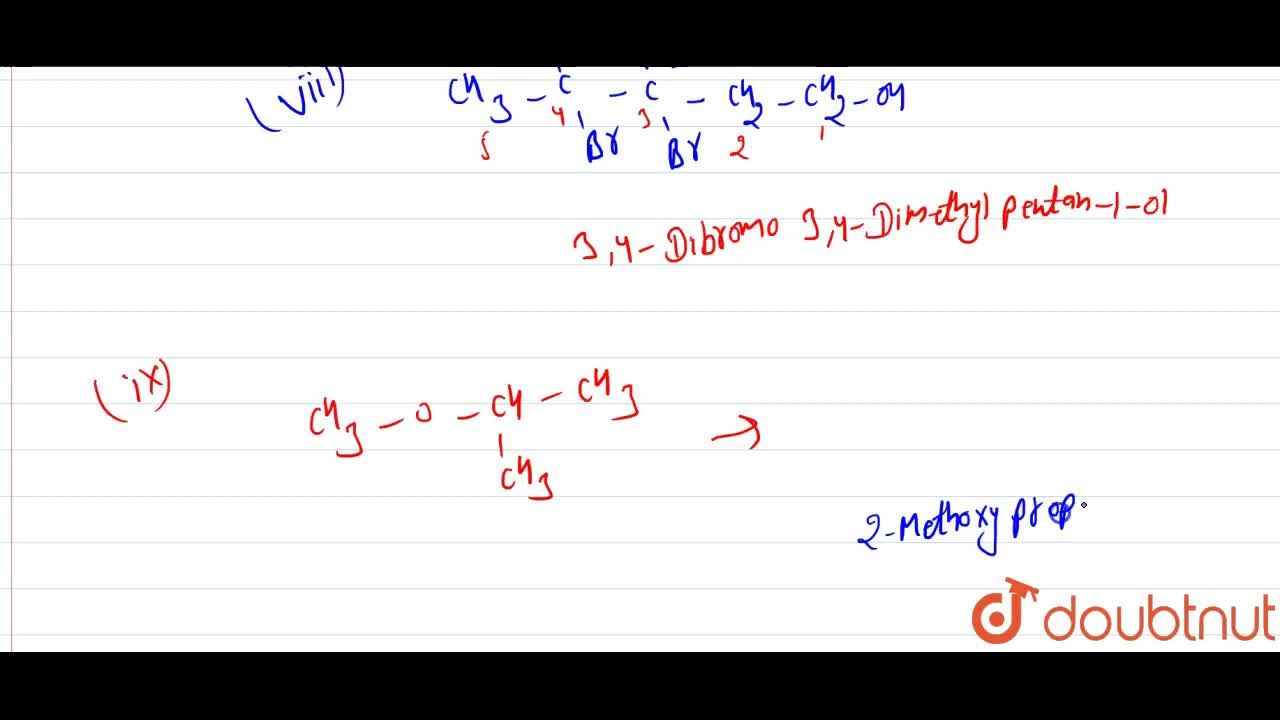 Solution for Give the IUPAC names of the following : <br> (i)