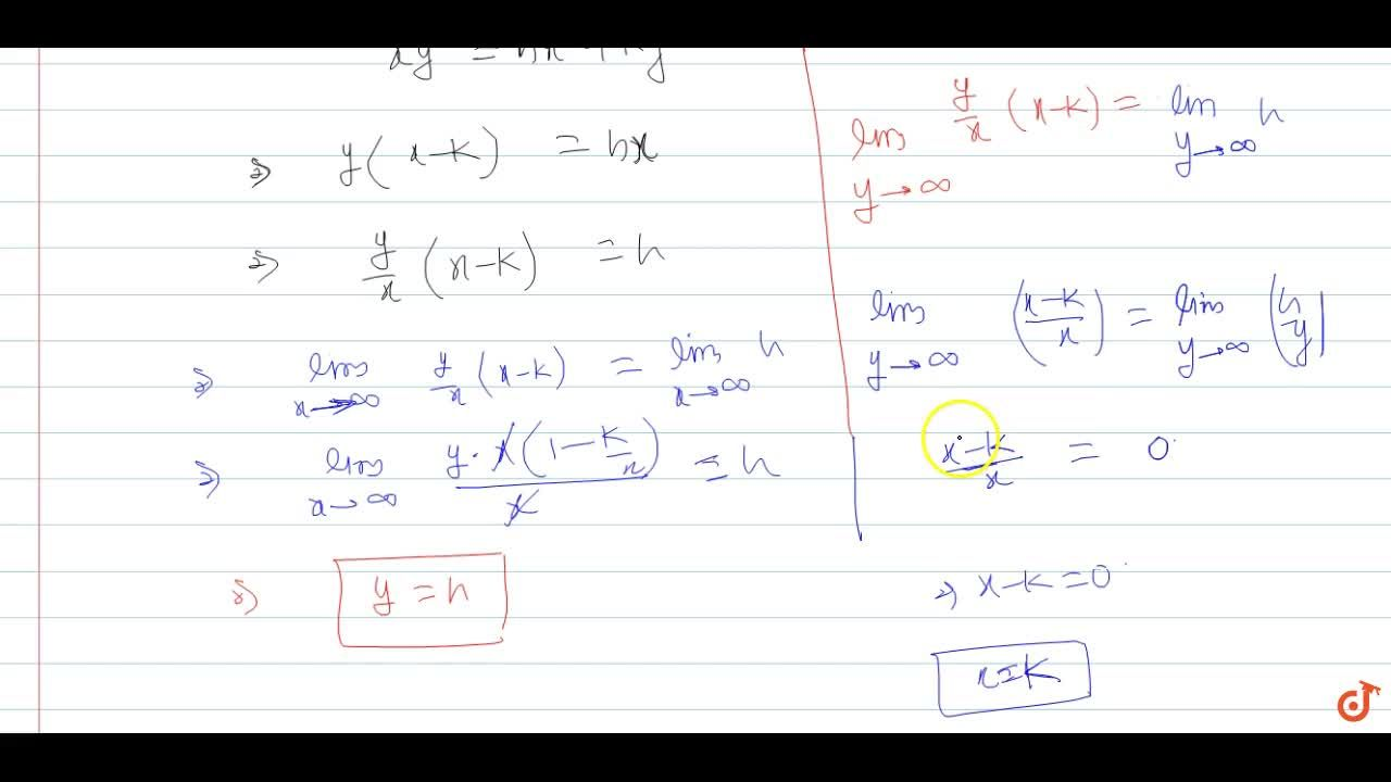 Solution for Find the equation of the asymptotes of the hyperbo