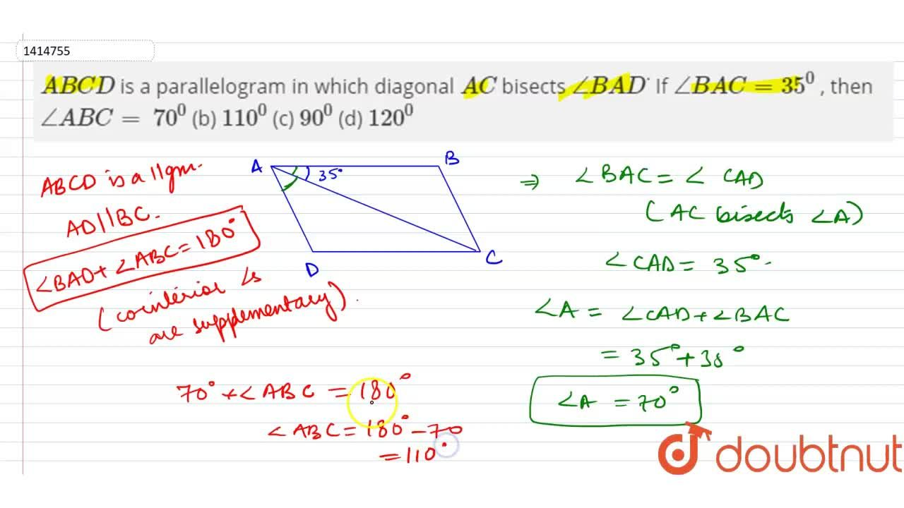 A B C D is a parallelogram in