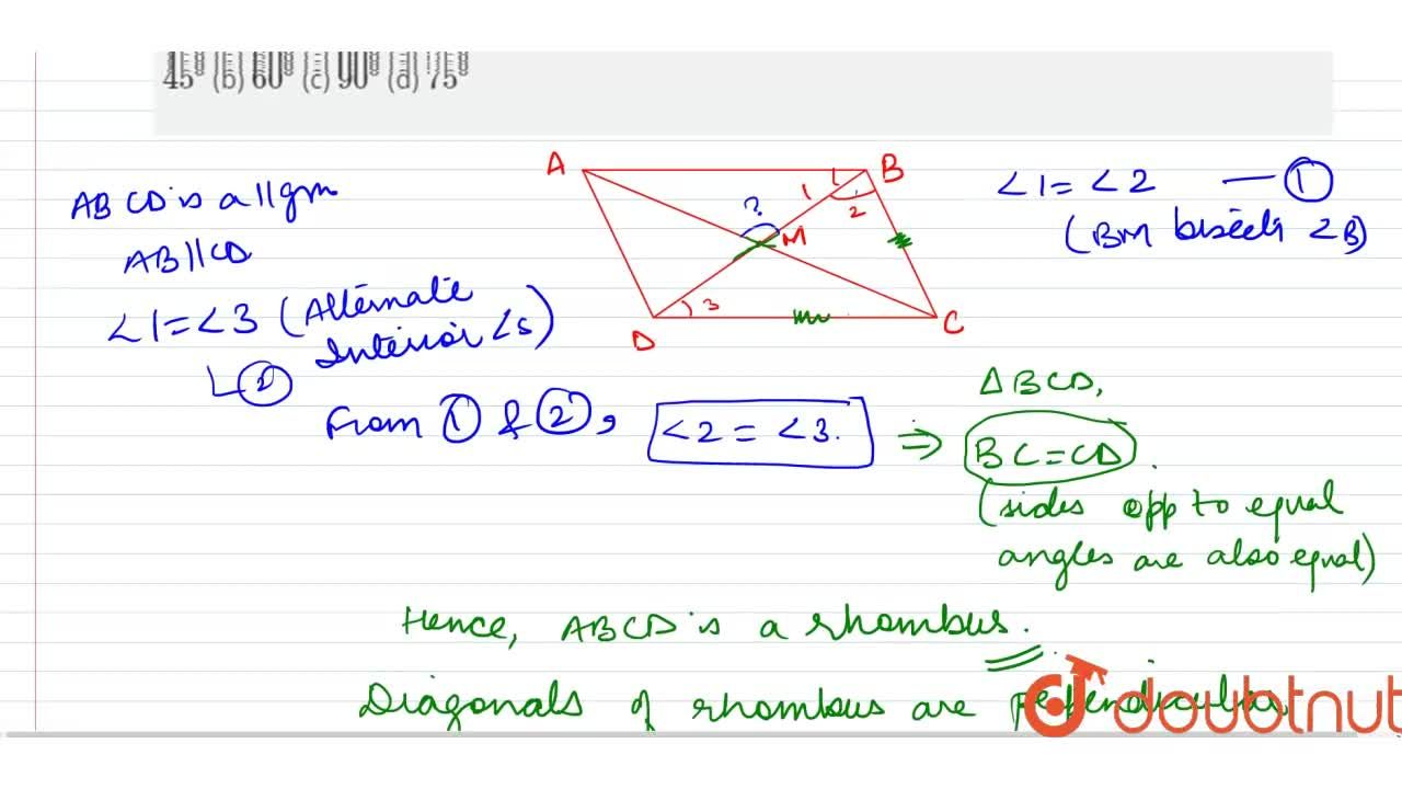 Solution for A B C D is a parallelogram, M is the mid-point