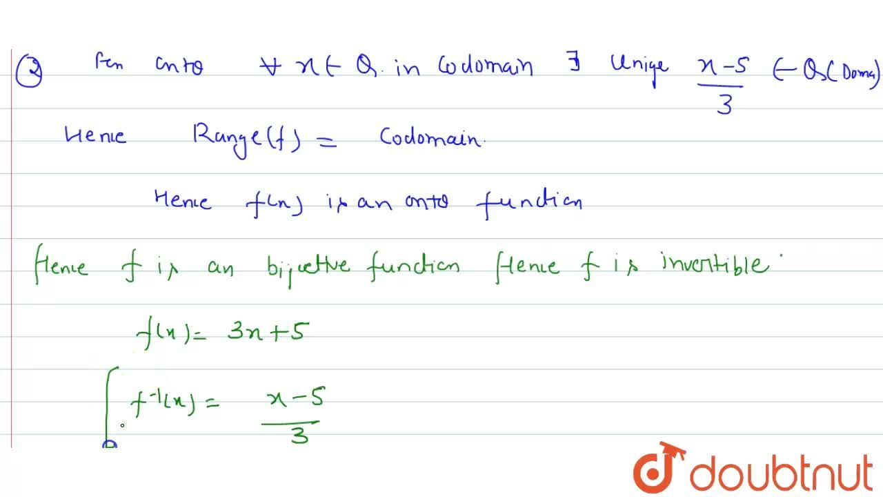 Solution for Show that the function f: Q->Q defined by f(x)=