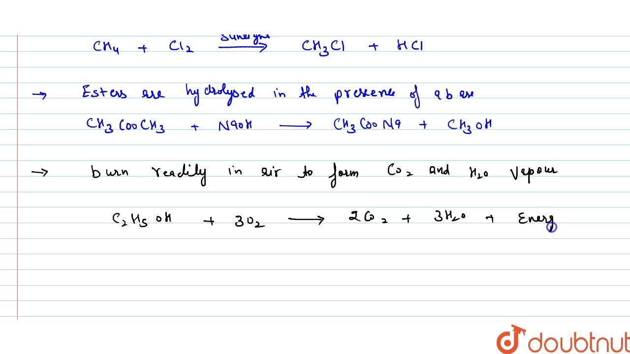 Solution for Explain the given reactions with the examples. <br
