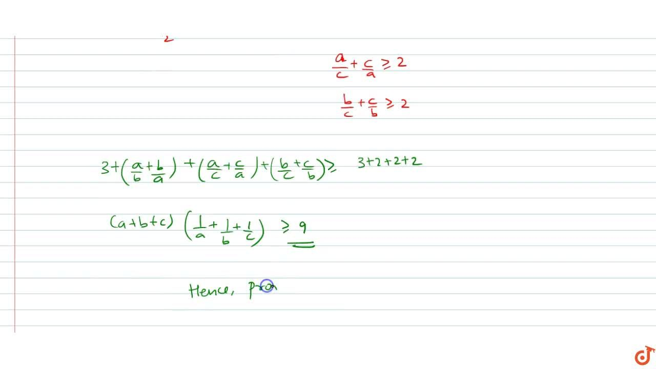 Solution for If a >0,b >0 and c >0 prove that (1984, 2M) (