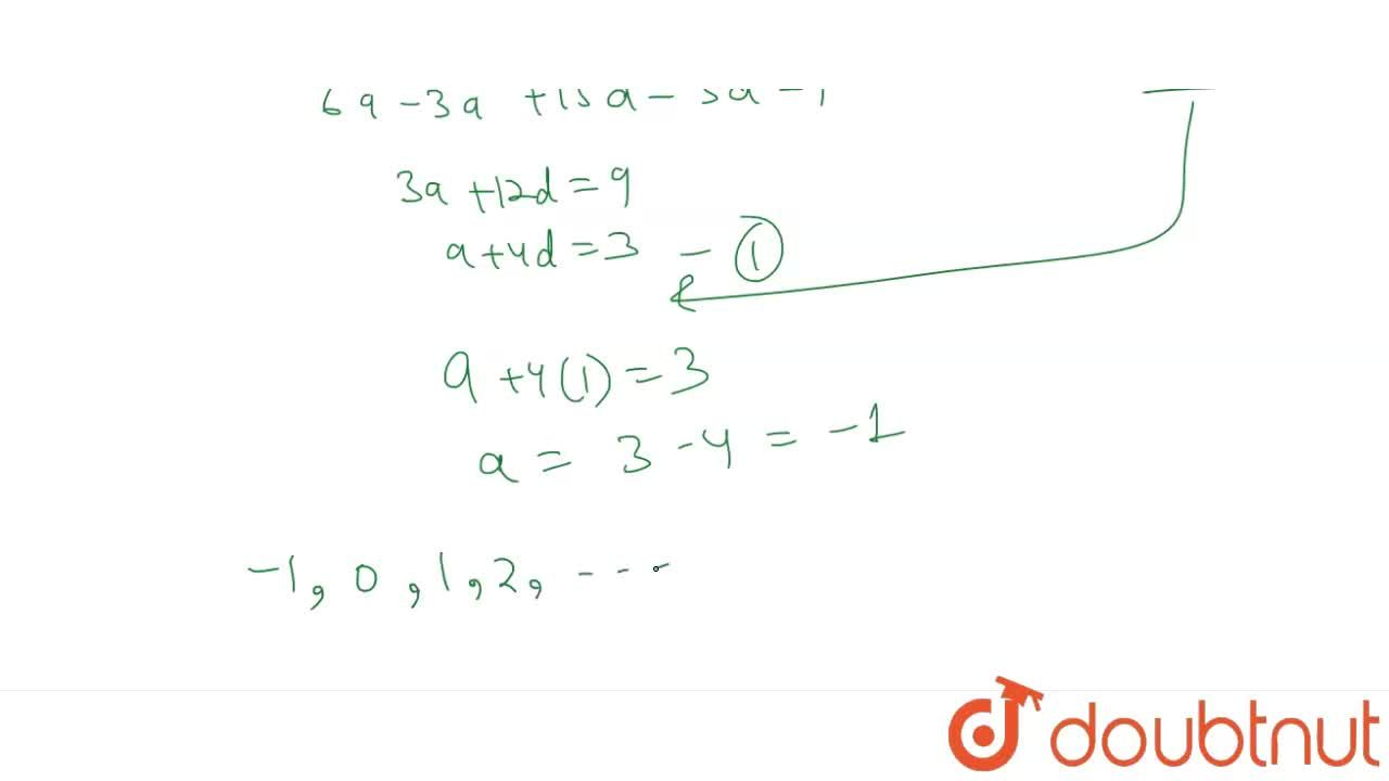 Solution for Sum of first terms of an A.P. is 9 less than the