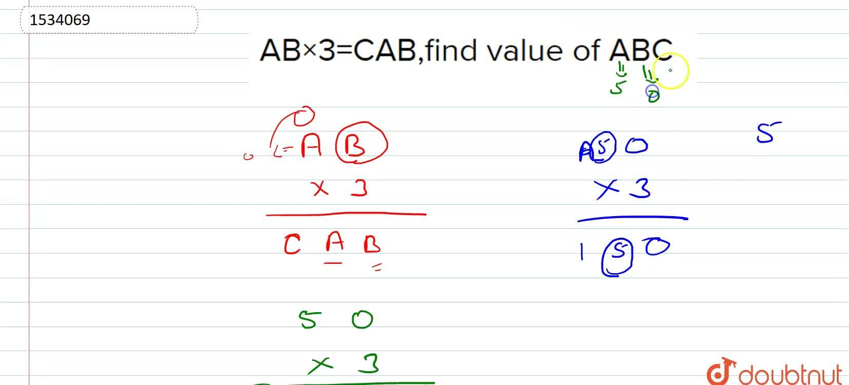 Solution for Show that the following cryptarithms   does not ha