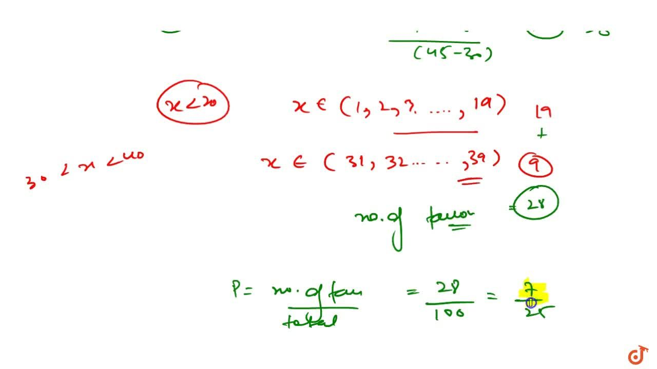 Solution for A natural number x is chosen at random from the