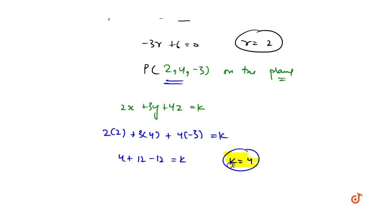 Solution for  If the lines (x+4),3=(y+6),5=(z-1),(-2) and 3