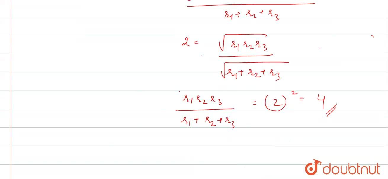 Solution for Three circles with radius r_(1), r_(2), r_(3) to