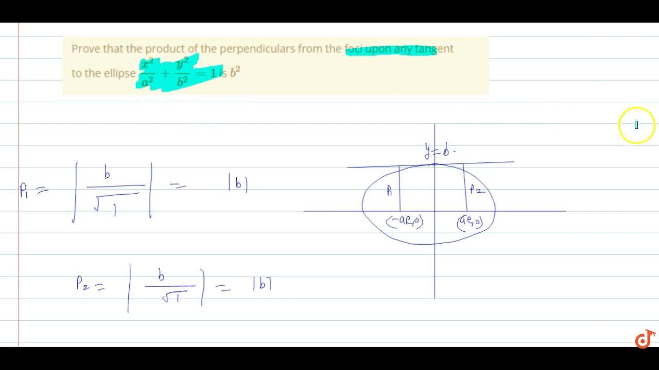 Solution for Prove that the product of the perpendiculars from