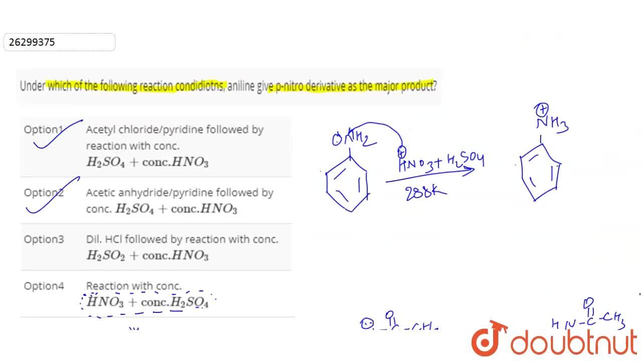 Solution for Under which of the following reaction condidiotns,