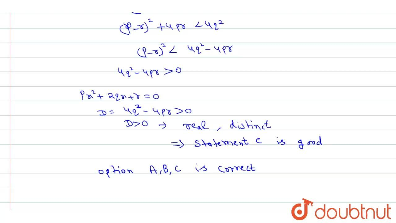 Solution for If p, q, r each are positive rational number suc