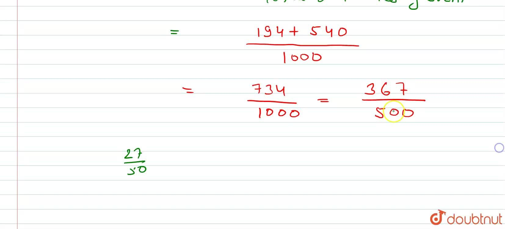 Solution for Two coins are tossed 1000 times and the outcomes a
