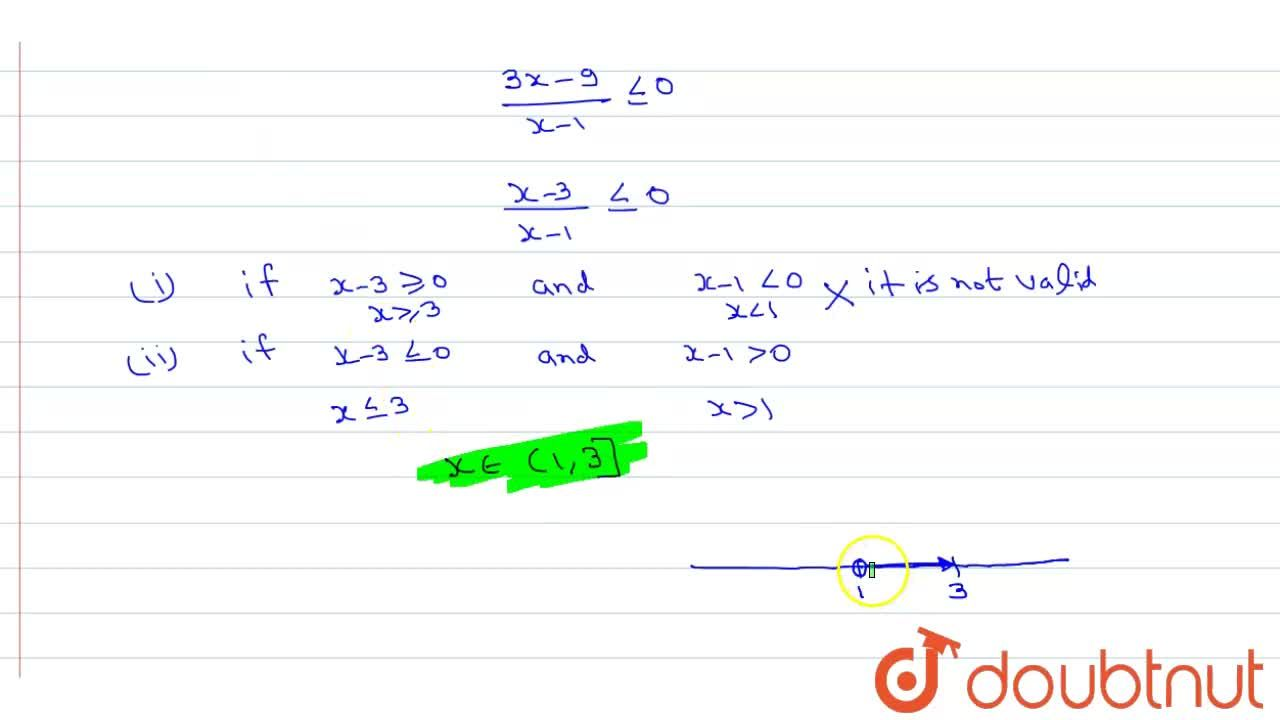 solve the inequation (2x+4),(x-1) ge 5 and represent this solution on the number line.