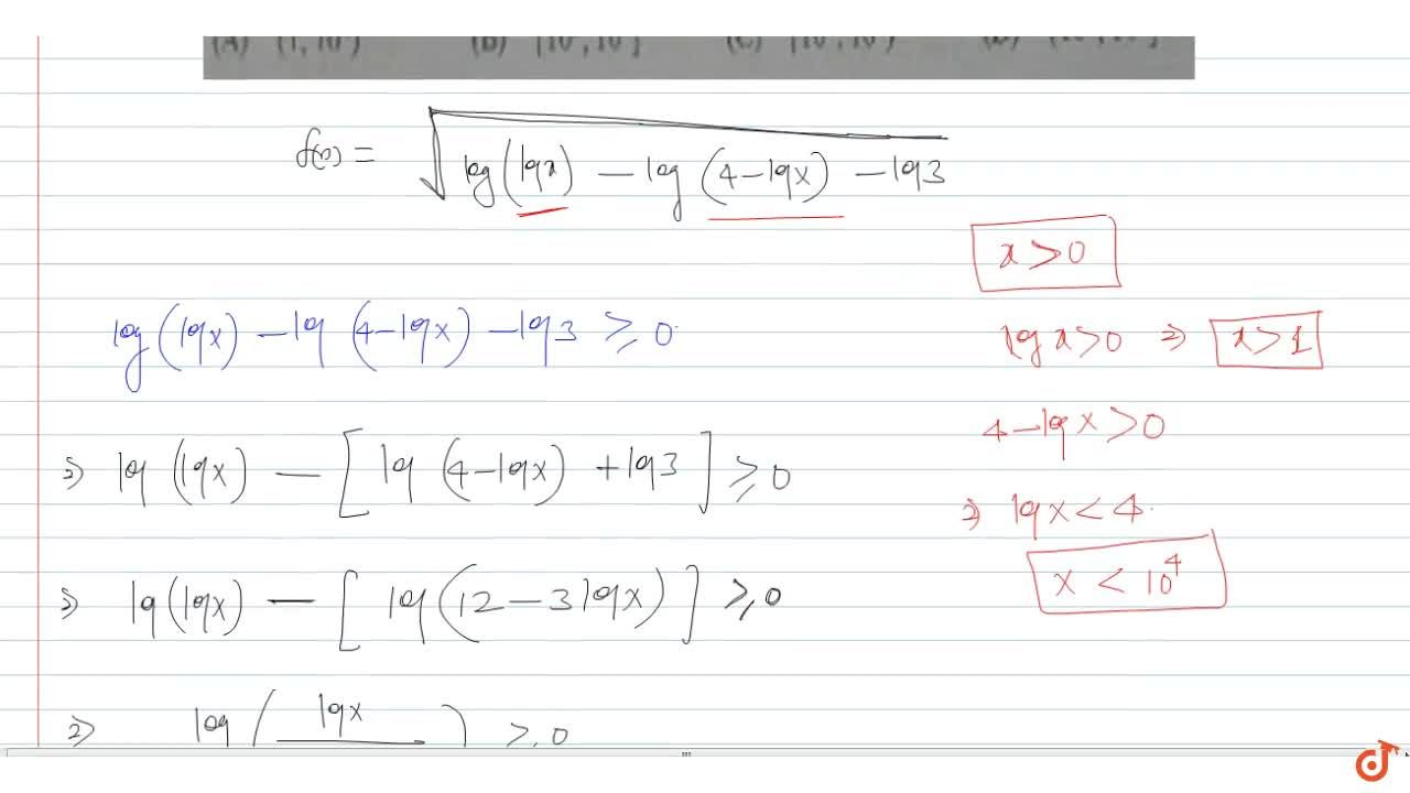 Solution for The domain of definition of f(x) = sqrt(log(logx)