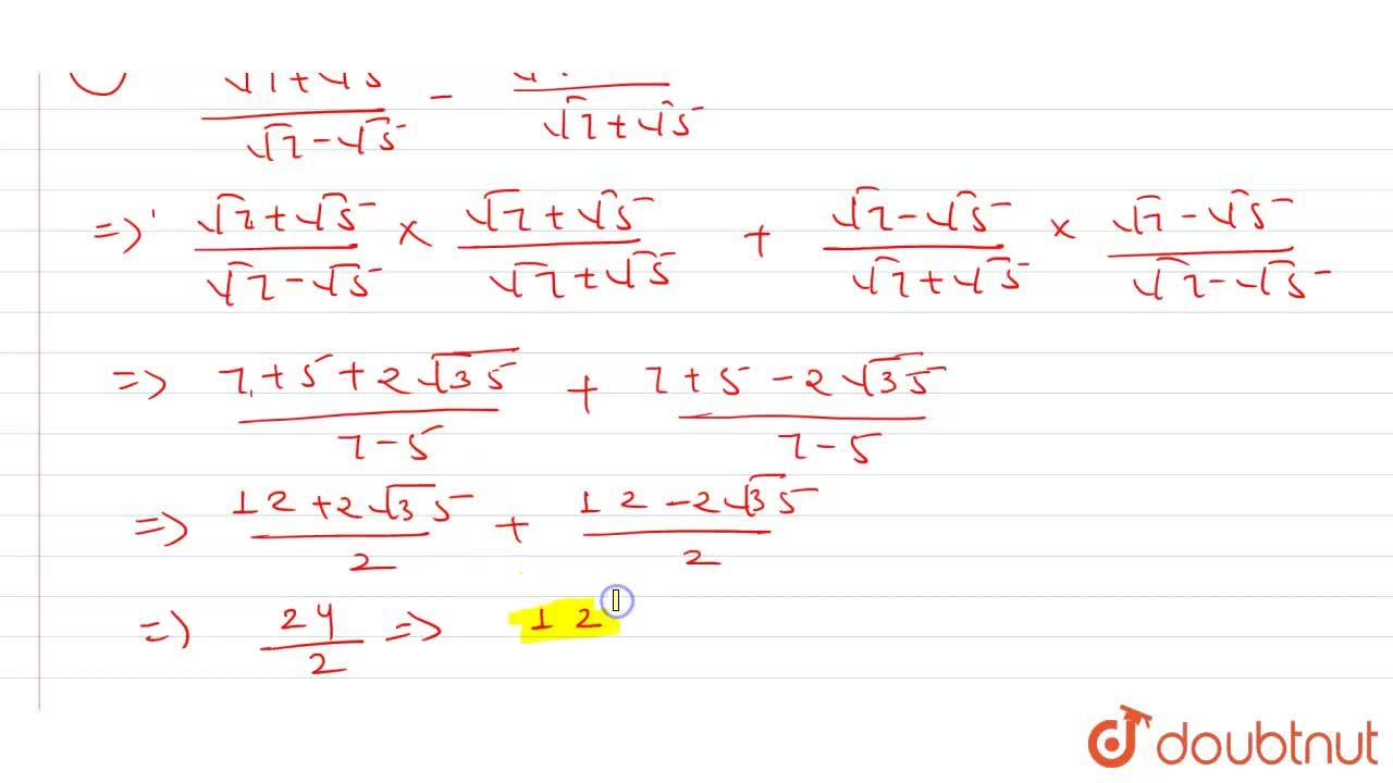 Solution for Simplify each of the following : <br> (i)(sqrt(2)