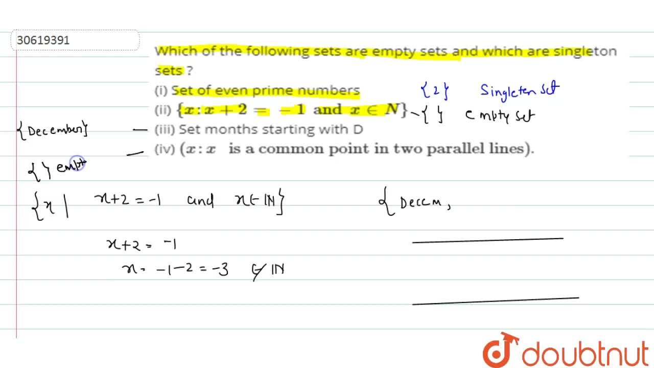 Solution for Which  of the following sets are empty sets and wh