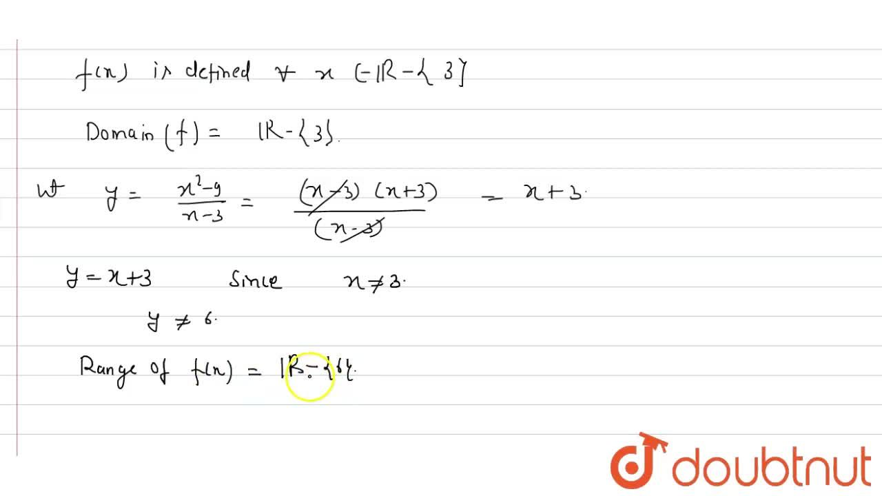 Solution for Find the domain and range of the function f(x)=(x