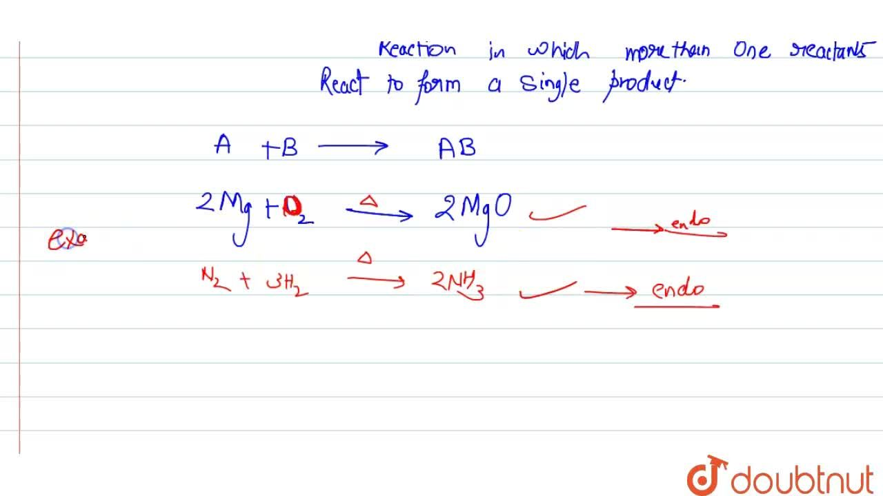 Solution for (a) Difine a combination reaction. <br> (b) Give o