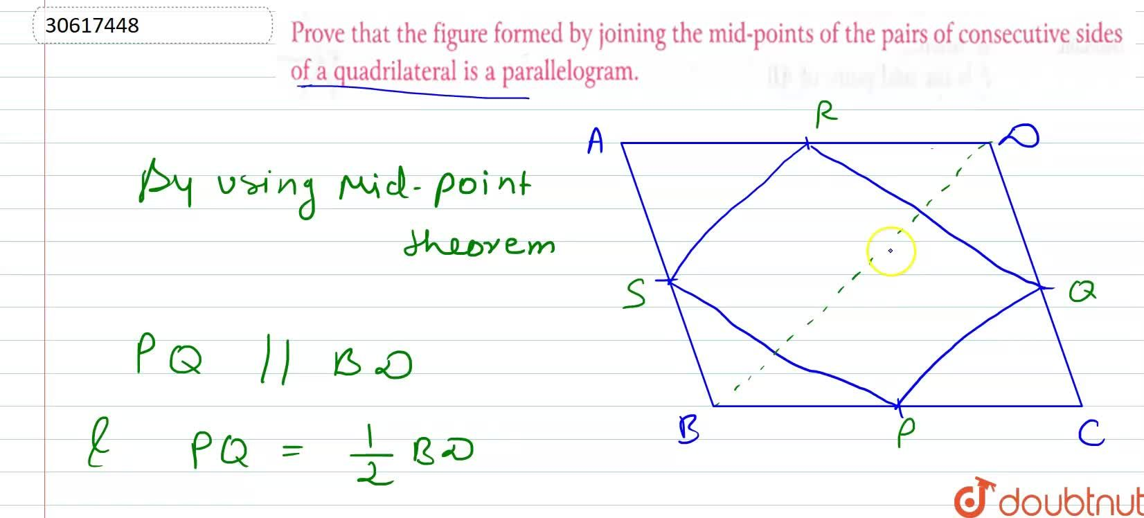 Solution for Prove that the figure formed by joining the mid-po