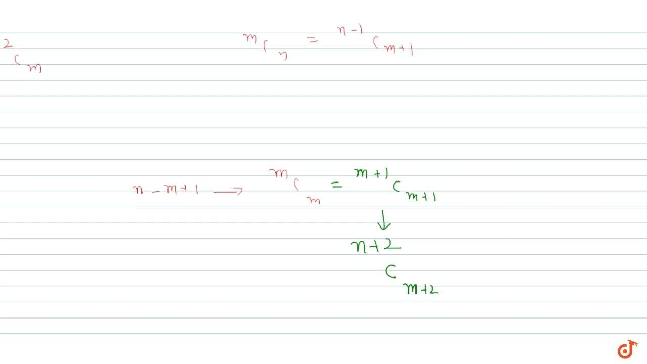 Solution for For any positive integer (m,n) (with ngeqm), Let