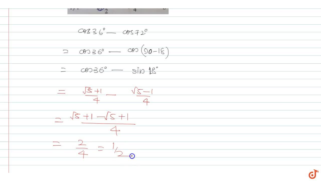 Solution for cos3 6^(@)-cos7 2^(@)=