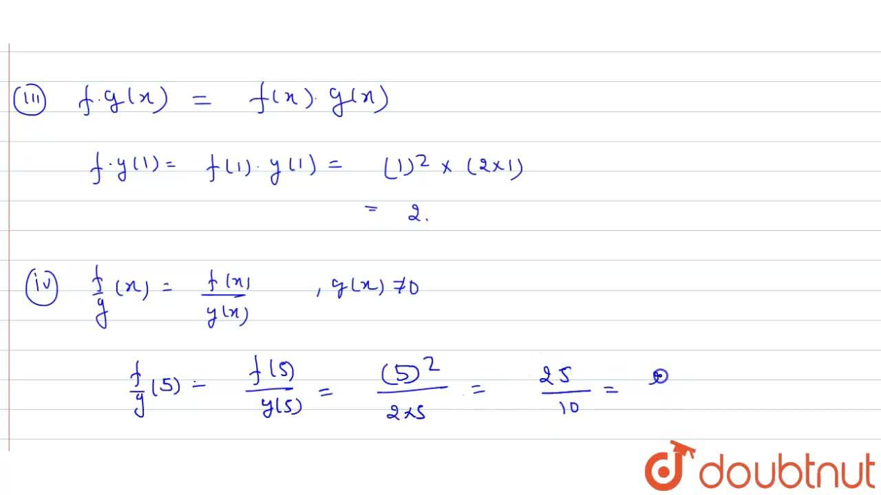 Solution for If f(x)=x^(2) and g(x)=2x , then evaluate, <br>