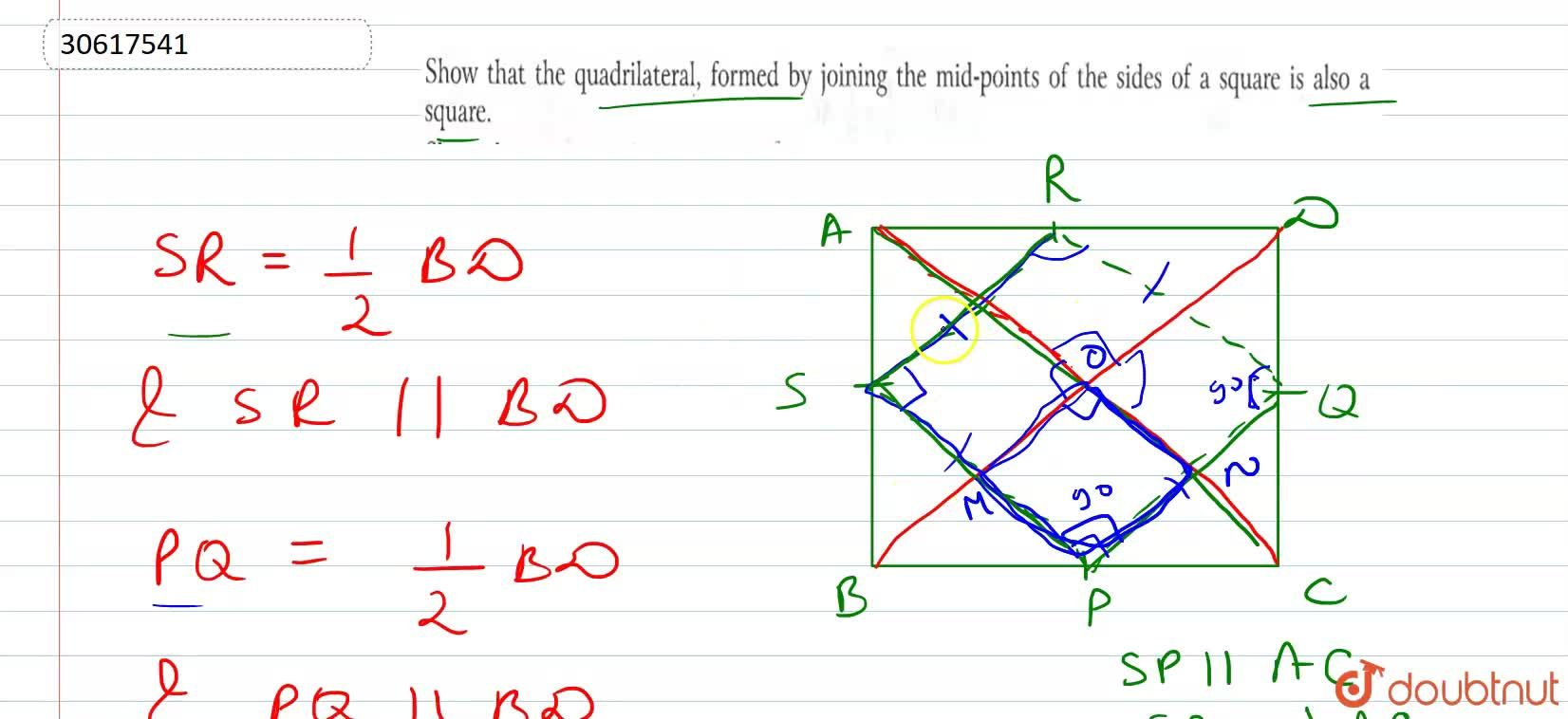 Solution for Show that the quadrilateral, formed by joining the