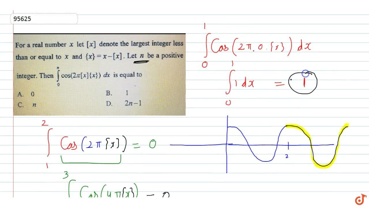 Solution for  For a real number x let [x] denote the largest in